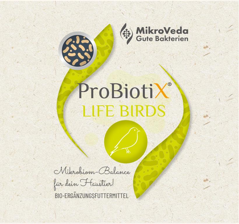 ProbiotiX LIFE BIRDS Bio Ergänzungsfutter 250 ml PET Flasche mit Tropfverschluss