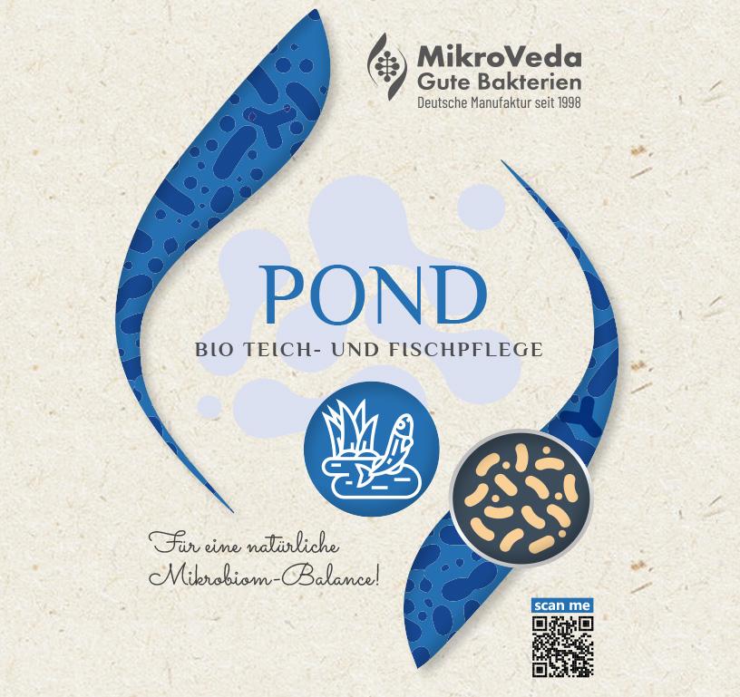 MikroVeda POND Bio Teichpflege 1 Liter R-PET Flasche (100% recycelt)