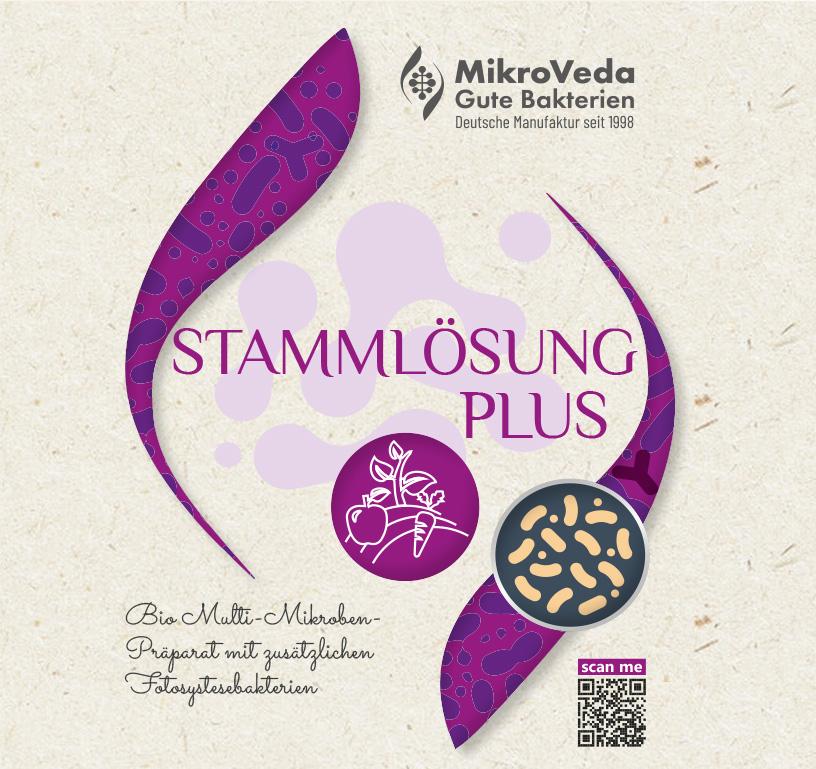 MikroVeda Bio STAMMLÖSUNG PLUS 16er Mutterkultur 1 Liter R-PET Flasche (100% recycelt)