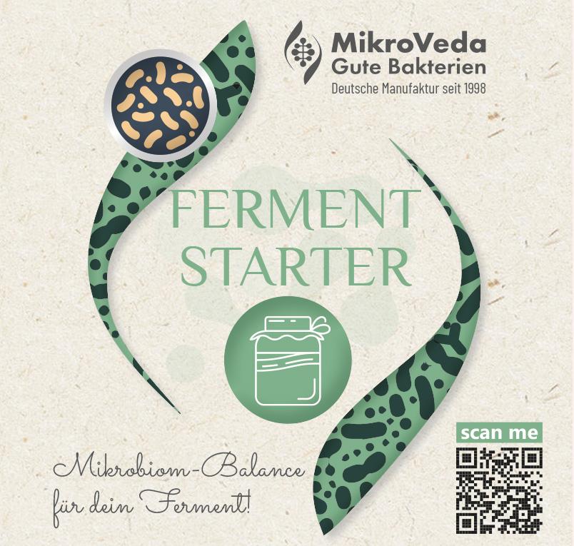 MikroVeda Fermentstarter für Sauerteig, Joghurt, Gemüse 250 ml Flasche