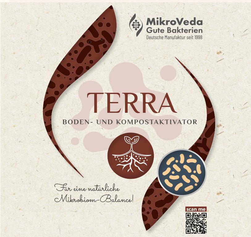 MikroVeda TERRA Bio Bodenaktivator 1 Liter R-PET Flasche (100% recycelt)
