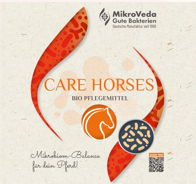 MikroVeda CARE HORSES Bio Stall- und Tierpflege 1 Liter R-PET Flasche (100% recycelt)