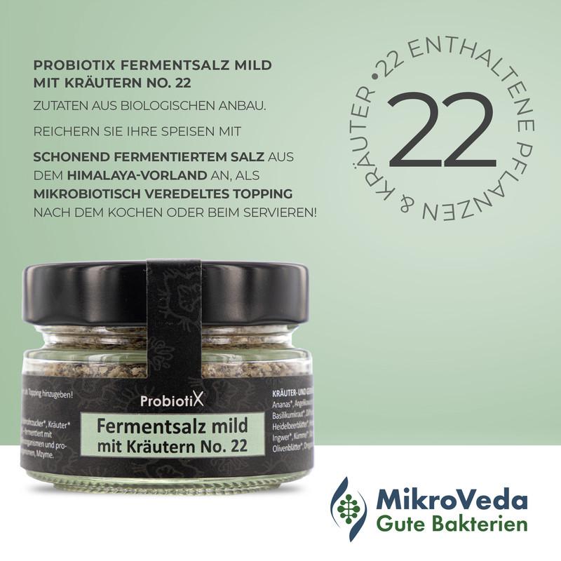 ProBiotiX FERMENTSALZ mild mit Kräutern No. 22