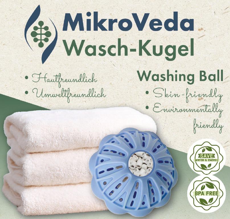 MikroVeda Waschkugel mit Mikroorganismen-Keramik